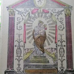 Estampe Polychrome Sicilienne Vintage : San Giuseppe