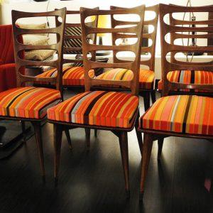 6 Chaises Vintage Avec Dossier En Bois Ajouré