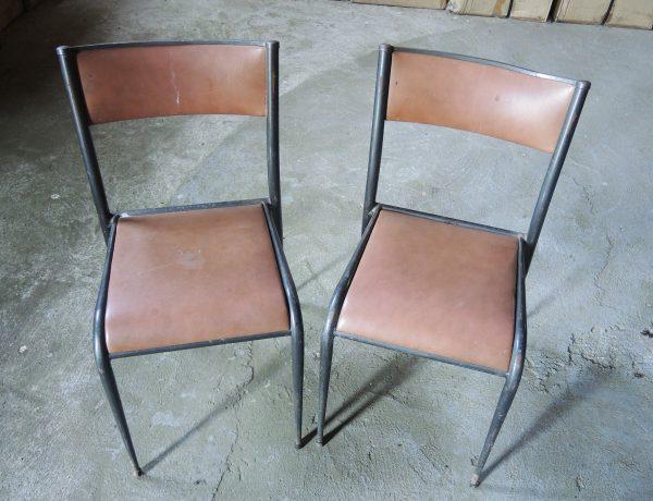 ancienne-chaise-decolier-bois-metal-skai