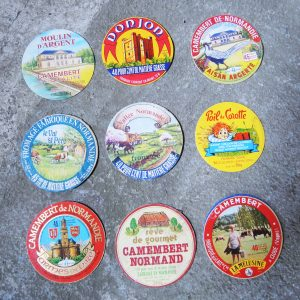 Lot D'Etiquettes De Camembert Vintage