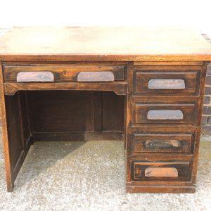 Bureau De Comptable Vintage En Bois