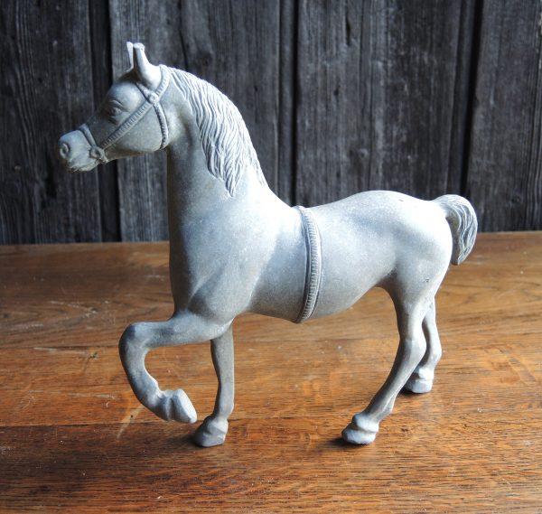 Statuette Equestre En Etain Vintage