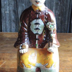 Statuette Chinoise En Céramique Vintage