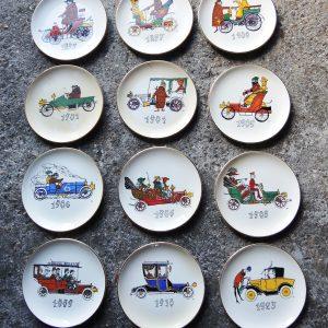 12 Assiettes En Porcelaine Signées Jacques Charmoz Vintage