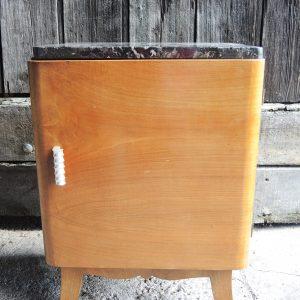 Table De Chevet Style Art Déco Vintage