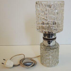 Lampe Tube Vintage En Verre Craquelé