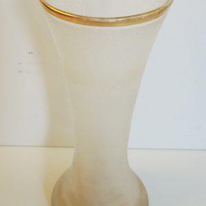 Vase En Cristal Givré Vintage