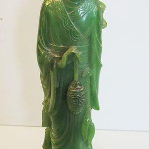 Statuette Chinoise En Imitation Jade Vintage