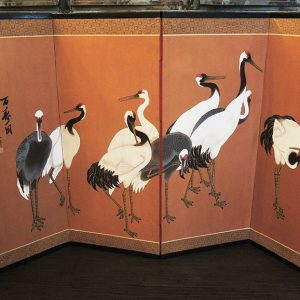 Paravent Chinois Vintage – Grues