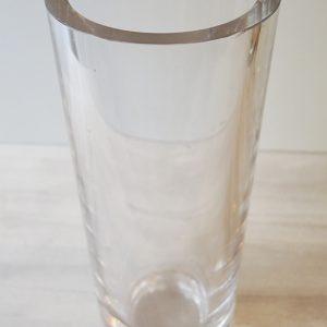 Grand Vase Tube En Cristal Vintage