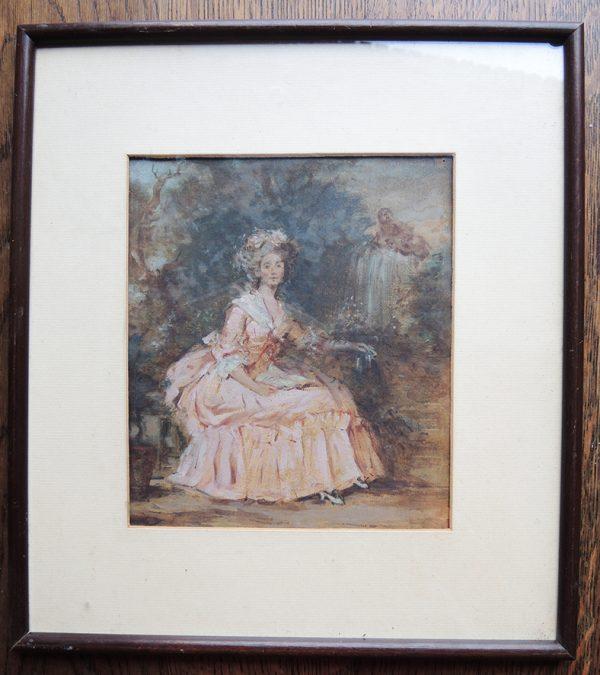 ancien-portrait-miniature-encadre