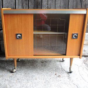 Meuble Bar / Meuble Télé À Roues Vintage