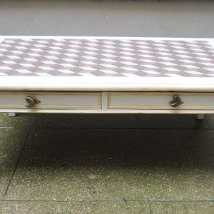 Table Basse Repeinte Gris Clair Vintage