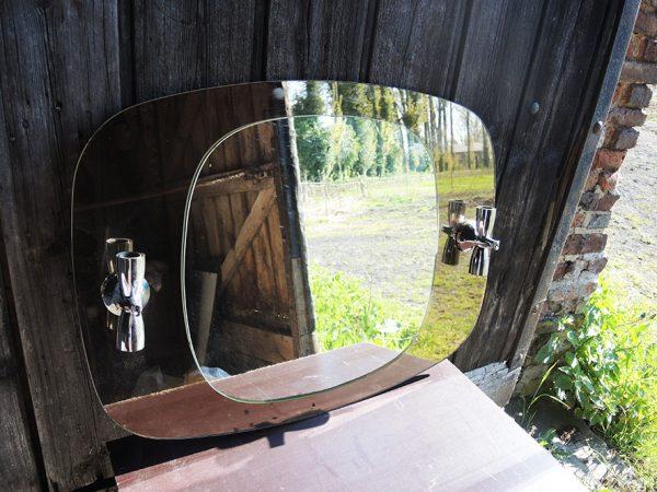 miroir-applique-marron-glace-annees-70