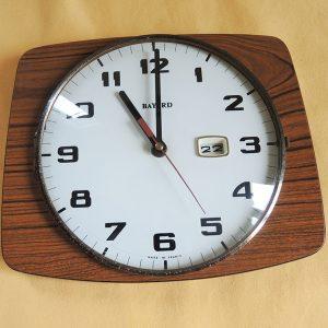 Horloge Murale Avec Jour BAYARD Vintage Années 50