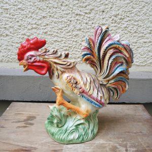 Rooster Coq Vintage En Céramique Fabriqué En Italie