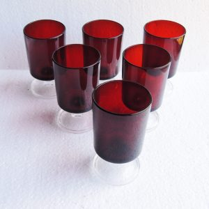 6 Verres À Vin – Apéritif Vintage Rouges Luminarc