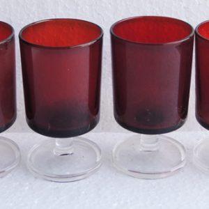 6 Verres À Vin – Eau Vintage Rouges
