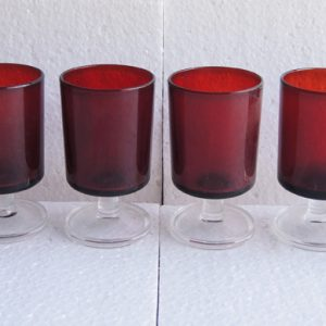 6 Verres À Vin – Eau Vintage Rouges Luminarc