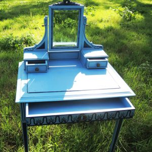 Coiffeuse Vintage – Table De Toilette En Bois
