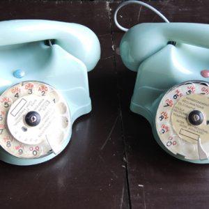 Paires De Téléphones À Cadran Rotatif Vintage