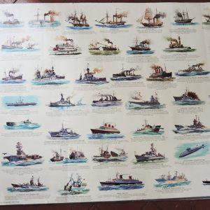 Grande Affiche Vintage Panodécor : Marine À Moteur