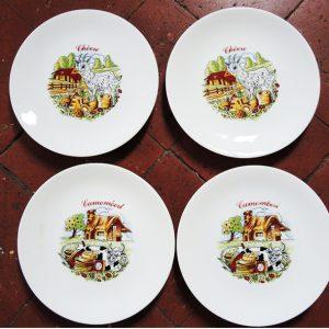 Service De 10 Assiettes Vintage En Porcelaine Européenne