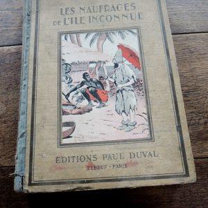 Livre Vintage Pour Enfants : Les Naufrages De L'Ile Inconnu