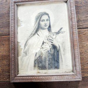 Portrait Encadré Vintage De Sainte Thérèse De Lisieux