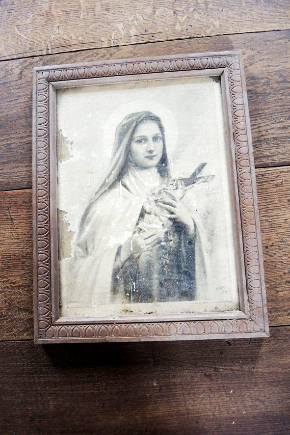 ancien-portrait-encadre-de-sainte-therese-de-lisieux