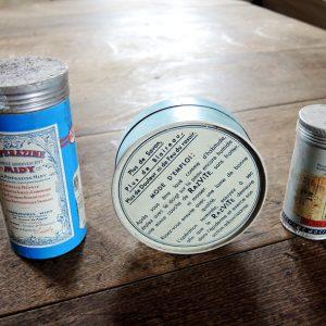 3 Boites Vintage En Métal