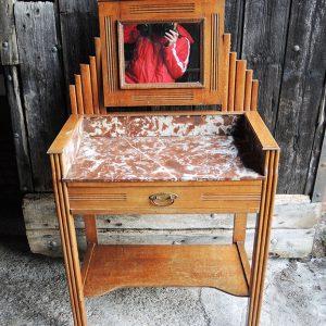 Coiffeuse Table De Toilette Art Déco Vintage