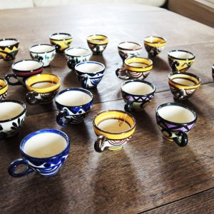 Mini Tasses Vintage Peintes Mains