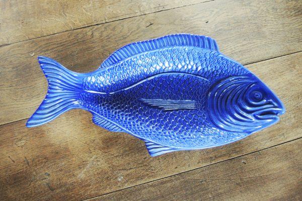 ancienne-coupe-en-ceramique-bleu-en-forme-de-poisson
