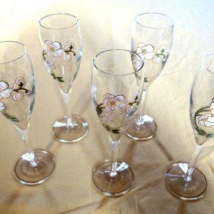 5 Flutes À Champagne Vintage Perrier Jouët