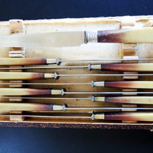 9 Couteaux De Table Vintage Style Art Déco