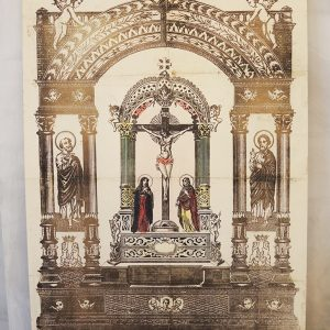 Estampe Italienne Vintage : La Crucifixion