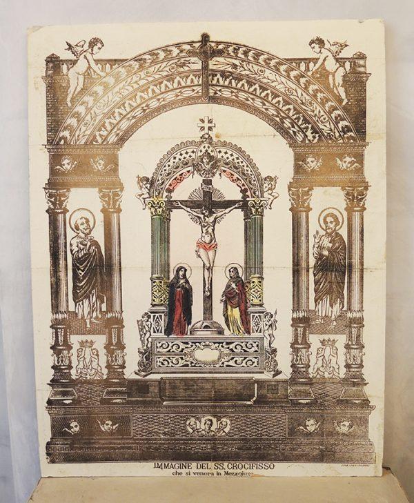 ancienne-estampe-italienne-la-crucifixion