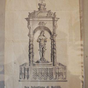 Estampe Italienne Vintage : San Sebastiano Di Melilli