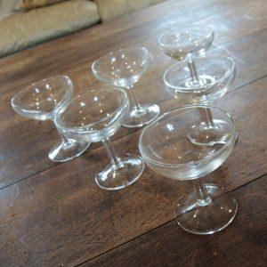 Lot De 6 Coupes À Champagne Vintage En Verre