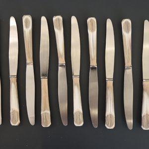 12 Couteaux À Dessert Vintage Inox Et Bakelite SIONVILLE