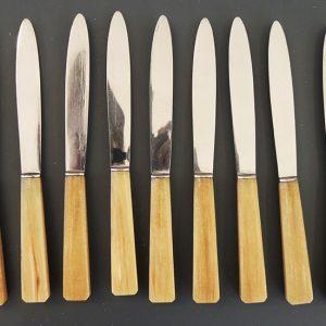 Couteaux À Dessert Vintage Inox Et Bakelite