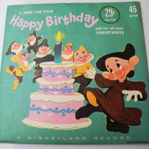 Disque Vinyle 45 Tours DISNEY Vintage