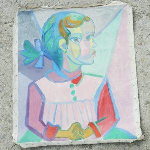 Huile Sur Toile D'Après Picasso Vintage