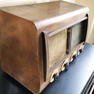 Poste Radio TSF DEVIEUX À Lampes Vintage Années 30