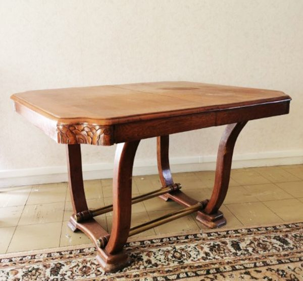 ancienne-table-a-diner-extensible-art-deco
