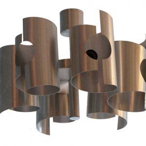 Suspension Vintage En Aluminium Brosse