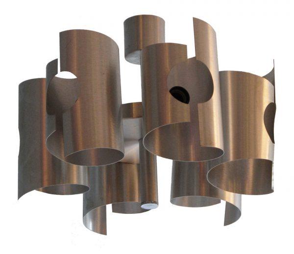 ancienne-suspension-en-aluminium-brosse