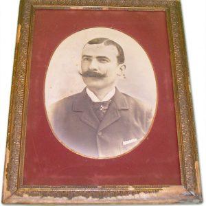 Photo Vintage D'un homme MOUSTACHU