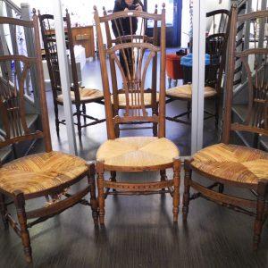 Lot De 3 Chaises De Nourrice Vintage